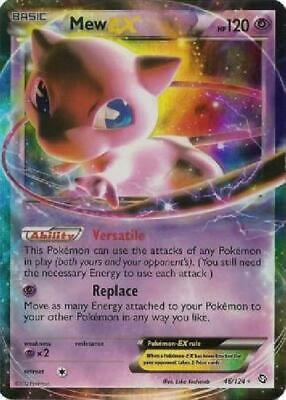 Mew-EX - 46/124 - Ultra Rare NM Dragons Exalted Pokemon