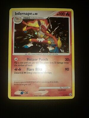 Pokemon - Infernape 5/130 Holo Diamond and Pearl  Lv.40 NM HOLO BLEED
