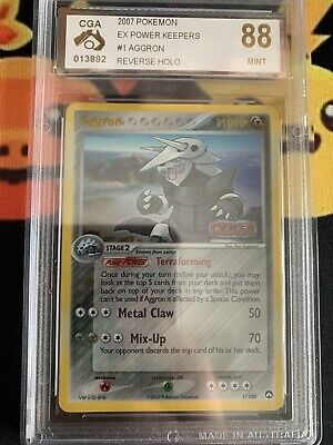 2007 Pokemon Ex Power Keepers Aggron 1/108 Reverse Holo Cga 88 Mint (psa 9?)