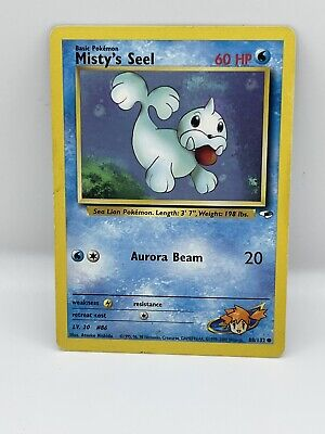 NM (Unlimited) Pokemon MISTY'S SEEL Card GYM HEROES Set 88/132 COMMON