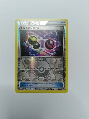 2016 Pokemon Steam Siege Special Charge Reverse Holo Trainer Card 105/114 #105