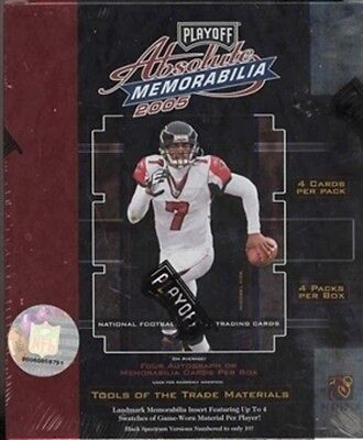 2005 playoff absolute memorabilia nfl football hobby case (18 boxes)
