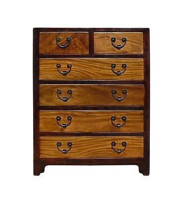 Chinese Oriental Two Brown Color Dresser Storage Cabinet Cs638