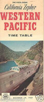 Railroad Timetable - Western Pacific - 29/10/67 - California Zephyr Photos