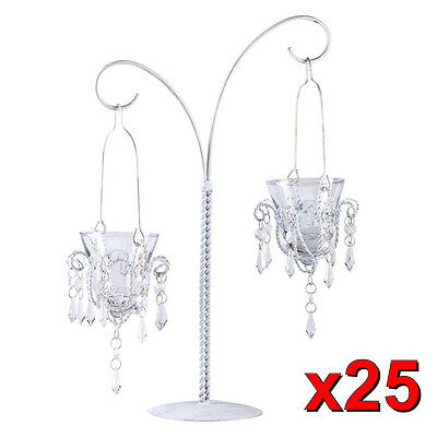 """25 Wedding Hanging Votive Candles Centerpieces 17"""" Tall"""