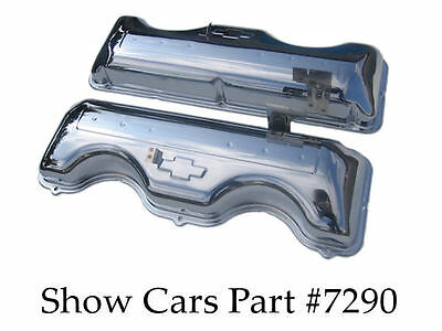 64,65 Chrome Valve Covers 409 Chevy Chevrolet Impala Bel Air With Fake Drippers