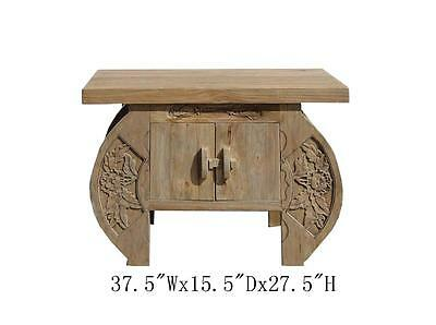 Chinese  Camphor Wood Flower Carving Side Cabinet Wk2425