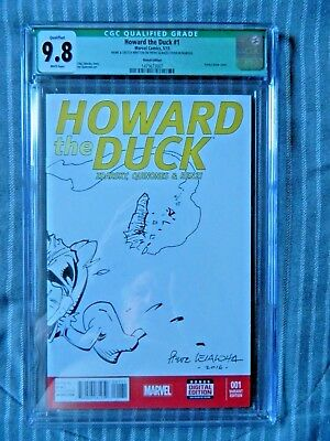 Howard The Duck #1 Sketched And Signed By Steve Leialoha Cgc 9.8