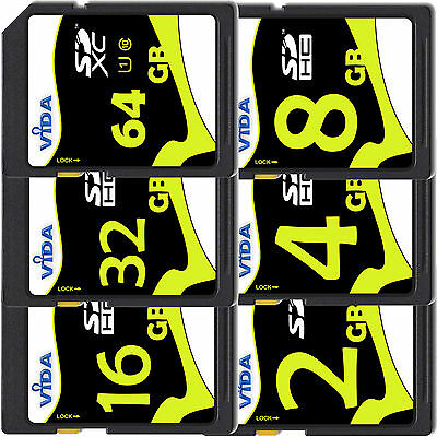 High Speed 8gb 16gb Sd Sdhc Memory Card Class 10 Uhs-1 20mb/s For Digital Camera