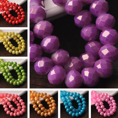 Бисер NEW 30pcs 10X8mm Faceted Rondelle
