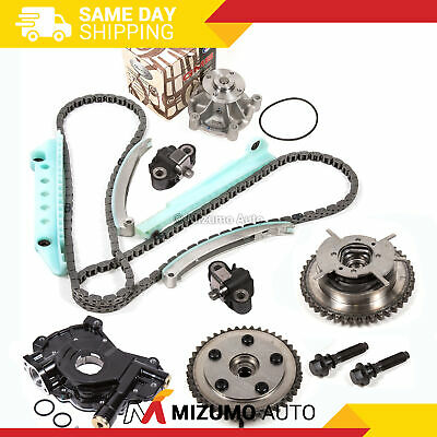 Timing Chain Kit Cam Phaser Water Pump Oil Pump Fit 05-09 Ford Mustang 4.6