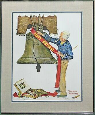 "Norman Rockwell ""celebration 1976"" 