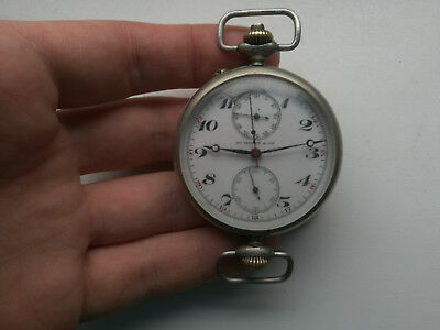 extremely rare collectible watch chronograph henry moser working ! need repair
