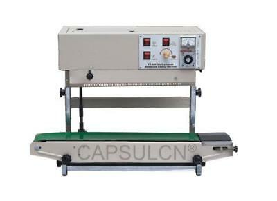 110v/220v fr 900v vertical automatic continuous plastic bag band sealer machine#