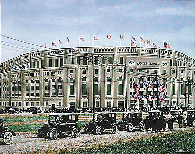 Yankee Stadium 1923 New York Yankees 8 X 10 Photo Art With Ultra Pro Toploader