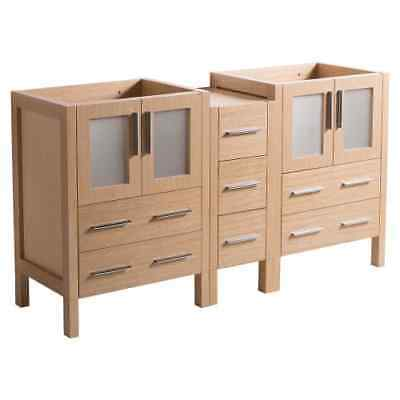 """fresca fcb62 241224lo torino 59.5"""" plywood vanity cabinet only  less vanity top"""
