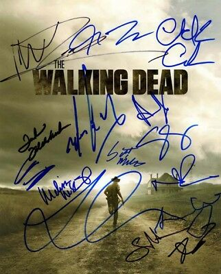 The Walking Dead Signed Autographed 11x14 Cast Photo Signed By Fifteen