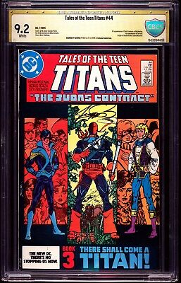 Tales Of The Teen Titans 44 1984 Cbcs 9.2 Nm- 1st Nightwing George Perez Signed