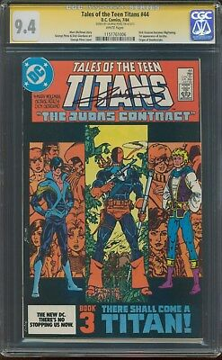 Tales Of The Teen Titans 44 Cgc 9.4 Nm Ss George Perez 1st Nightwing July 1984