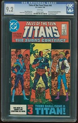 Tales Of The Teen Titans # 44 Cgc 9.2 Nm- Judas Contract Nightwing R-1097