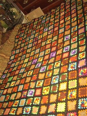 Antique Usa Home Bedroom Afghan Bed Bedspread Textile Throw Blanket Pillow Case