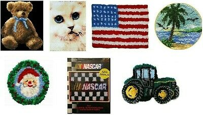 Latch Hook Kit U-pick Mcg Textiles Caron Bears Flag Nascar Santa Cat Owl Tractor