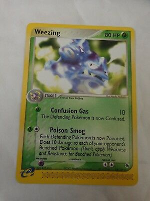 Rare Weezing 24/109 Ex Ruby & Sapphire Set Pokemon Card Go