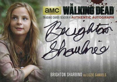 Walking Dead Season 4 Part 1 Silver Autograph Card Bs2 B Sharbino As Lizzie