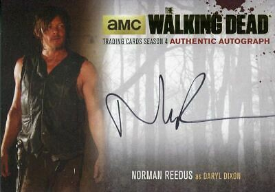 Walking Dead Season 4 Part 2 Gold Parallel Autograph Card Nr4 Reedus As Daryl