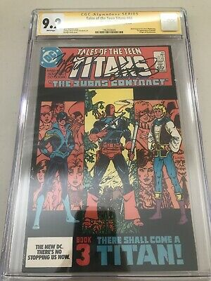 Tales Of The Teen Titans #44 Cgc Ss 9.2 Nightwing Signed By Perez And Wolfman