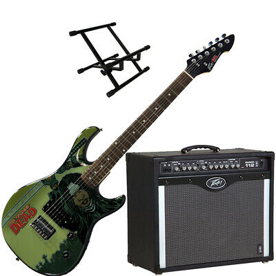 Peavey Bandit 112 Amp And Walking Dead Michonne Splash Guitar With Amp Stand