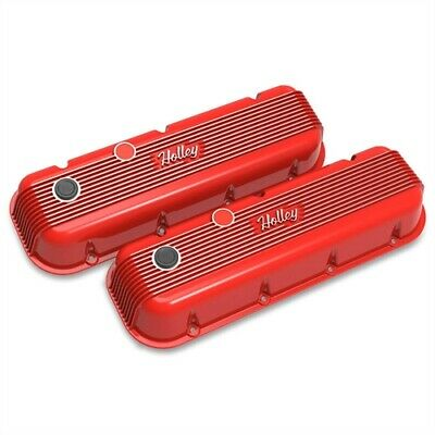Holley 241-303 Vintage Series Finned Valve Covers Big Block Chevy Perimeter Bolt