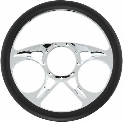 Jegs Performance Products 70429 Chrome-plated Billet Aluminum 14 Steering Wheel