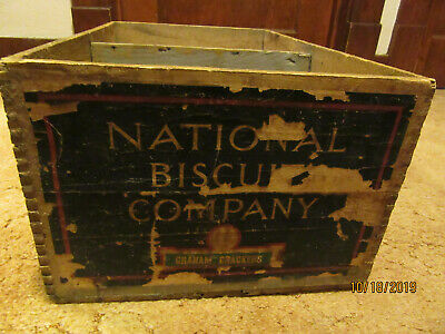 """Vintage Wood Crates (dovetailed) - """"national Biscuit Company"""""""