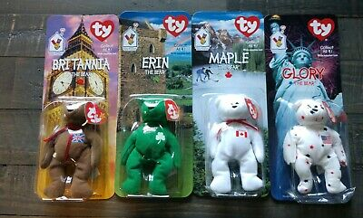 Rare Error Ty Teenie Beanie Babies Ronald Mcdonald House Charities Full Set Of 4