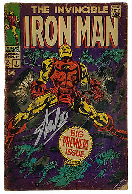 Stan Lee Marvel Authentic Signed The Invincible Iron Man #1 Comic Psa #6a20974