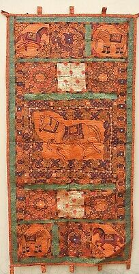 New Handmade Kuchi Afghan Tribal Art Folk Tapestry Wall Hanging Mirror Blanket