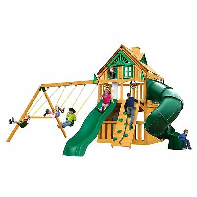 Gorilla Playsets Mountaineer Clubhouse Treehouse Cedar Swing Natural