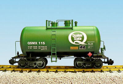 Usa Trains R15220 Quaker State - Green  Beer Can Tank Car Mint In Box
