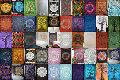 Twin Mandala Tapestry Cotton Wall Hanging Wholesale Lot Bedspreads Throw
