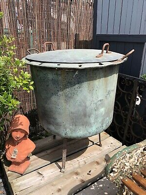Large Copper Antique Copper On Stand Huge Copper Post And Lid