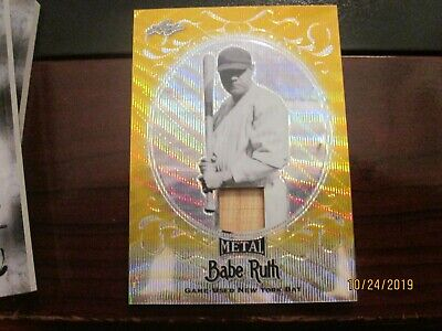 2019 Leaf Metal Babe Ruth Collection Gold #1/1 Yankee Bat Relic Sb-16 Babe Ruth