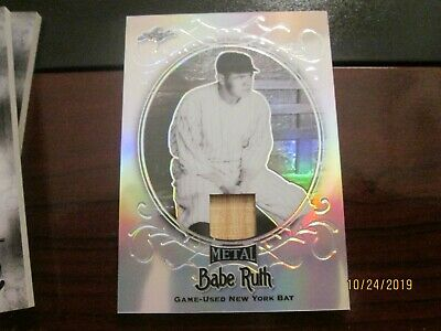 2019 Leaf Metal Babe Ruth Collection Base #6/10 Yankee Bat Relic Sb-29 Babe Ruth