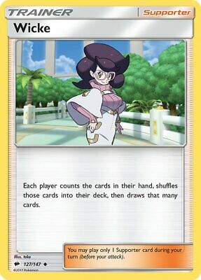 Wicke 127/147 - Uncommon Pokemon Trainer Card - Burning Shadows Set (2017) - NM