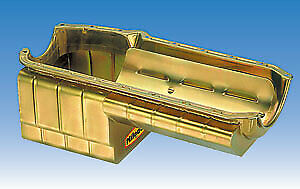Milodon 31167 Steel, Gold Zinc Plated Strip And Serious Street Oil Pan For Smal