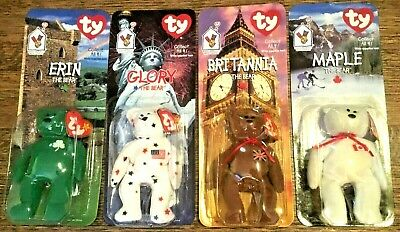 Ty Beanie Babies Mcdonald House Charities Full Set Of 4 Rare With Tag Errors Nib