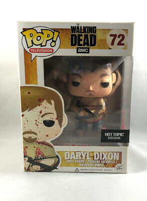 Funko Pop Walking Dead Hot Topic Bloody Daryl Dixon Poncho Vaulted Mib Nice