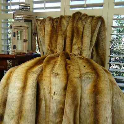 Plutus Sheared Faux Chinchilla Throw Brown 60 X 72