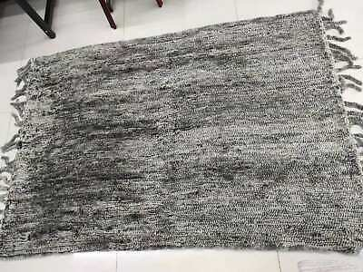 Hand Knit Rabbit Fur Throw Real Fur Warm Soft Cosy Blanket Cover Carpet Luxury