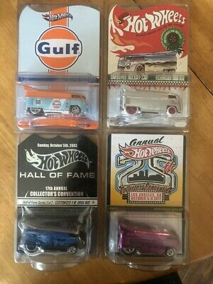 Hot Wheels Volkswagen Drag Bus Lot Of 4 Vhtf Rare Low Numbered
